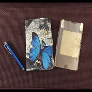 Butterfly wallet case for iPhone 6 Plus